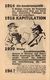Random PSYOP leaflet - 1914 The Annexation policy