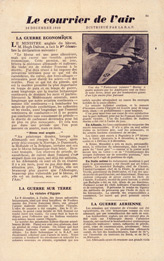 EH(F).50/1, Le Courrier de l'Air, No. 1, 16 Decembre 1940