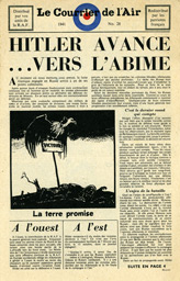 Random PSYOP leaflet - Le Courrier de l'Air, No. 28, 1941