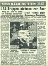 Random PSYOP leaflet - News for the Troops, No. 145, 8 September 1944