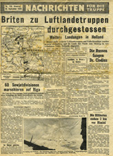 Random PSYOP leaflet - News for the Troops, No. 156, 19 September 1944