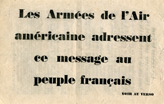 Random PSYOP leaflet - Message to French