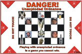 Random PSYOP leaflet - Playing with unexploded ordnance is a game you cannot win