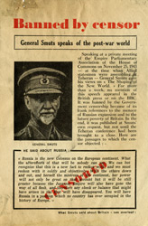 Random PSYOP leaflet - SMUTS SAID ABOUT BRITAIN: