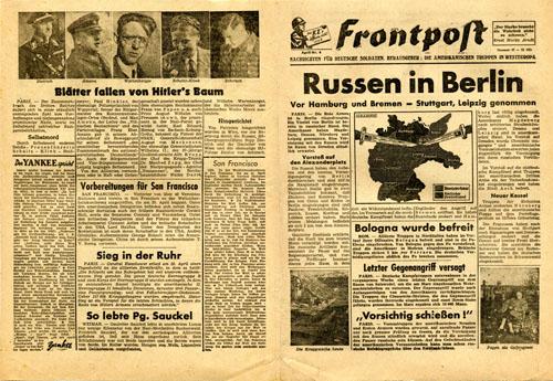 psywar leaflet archive no code frontpost nummer 57 april nr 3 russen in berlin. Black Bedroom Furniture Sets. Home Design Ideas