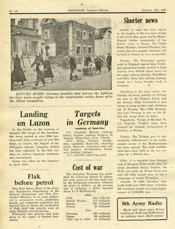 Frontpost - a newspaper produced by PWB/AFHQ for German Forces in Italy