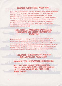 Falkland Islands propaganda leaflet - Island of the Condemned