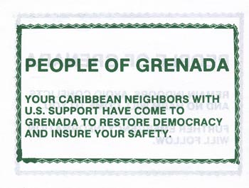 No Code, PEOPLE OF GRENADA YOUR CARIBBEAN NEIGHBORS WITH U.S. SUPPORT…