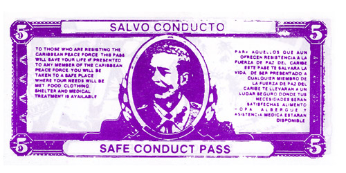 5 Peso Safe Conduct Pass