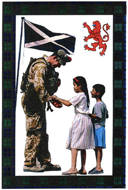H086, Peace be upon you (Black Watch soldier with Iraqi children)