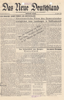 OSS Morale Operations: History of Das Neue Deutschland