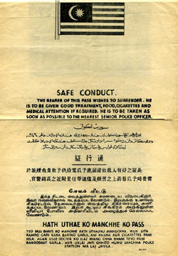 Malayan Emergency Safe Conduct Pass
