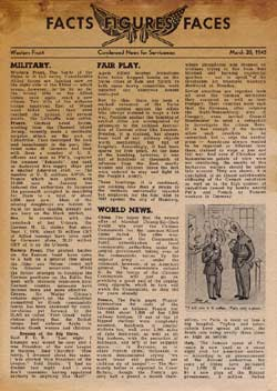No Code, FACTS FIGURES FACES March 28, 1945