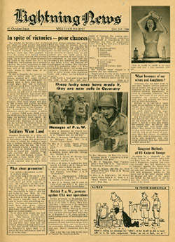 No Code, Lightning News, Oct. 31st 1944 - In spite of victories - poor chances