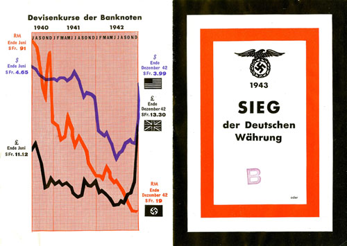 """1943 VICTORY of the German currency"" outside pages"