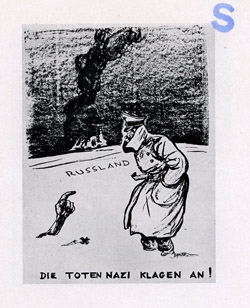"Various cartoons of Hitler and  other anti-Nazi themes as used in item ""T"""