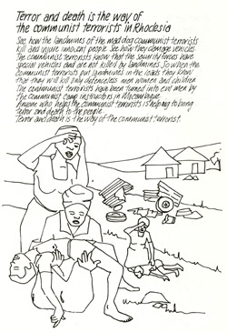 Rhodesian Operation Split-shot propaganda leaflet