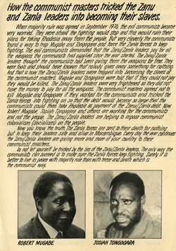 Rhodesian Anti-Mugabe Election Leaflet