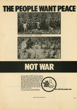 Rhodesian propaganda leaflet - NA 2984, THE PEOPLE WANT PEACE