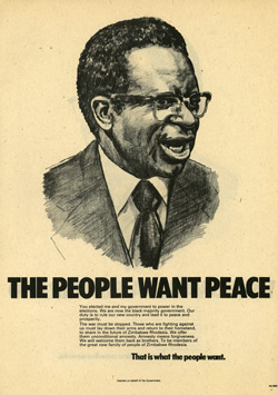 Rhodesian propaganda leaflet - NA 3000, THE PEOPLE WANT PEACE