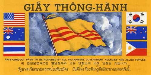 [893B], SAFE-CONDUCT PASS TO BE HONORED BY ALL VIETNAMESE GOVERNMENT AGENCIES…